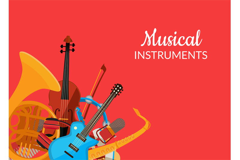 vector-cartoon-musical-instruments-background