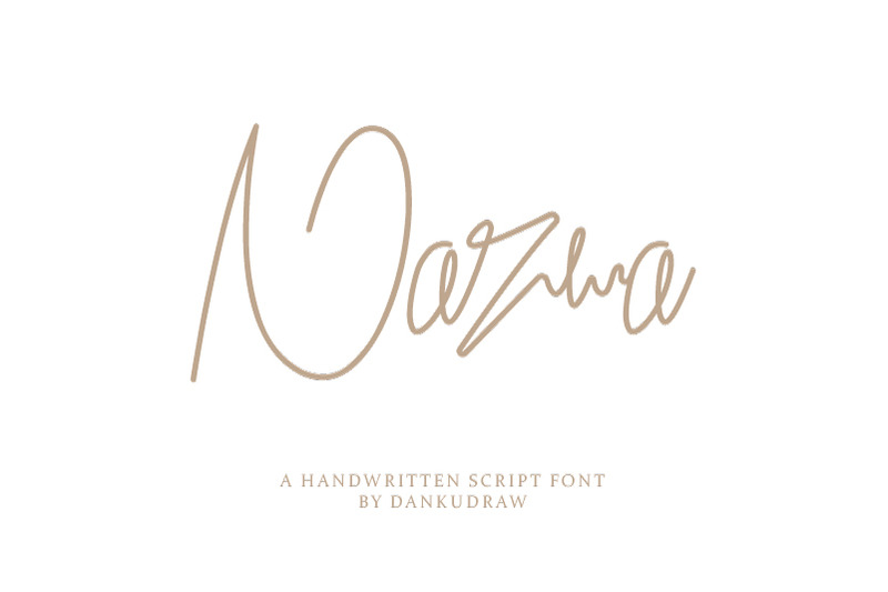 nazwa-handwritten-font