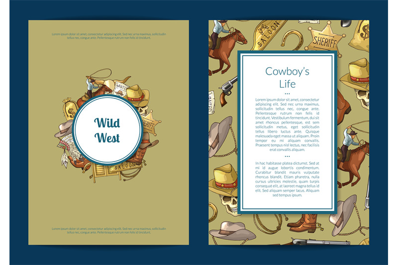 vector-hand-drawn-wild-west-cowboy-elements-card-or-flyer-template-ill