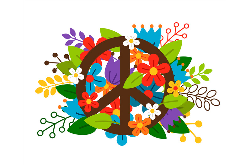 peace-symbol-with-flowers