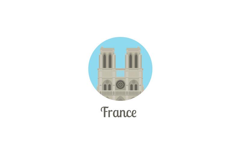 france-notre-dame-landmark-round-icon