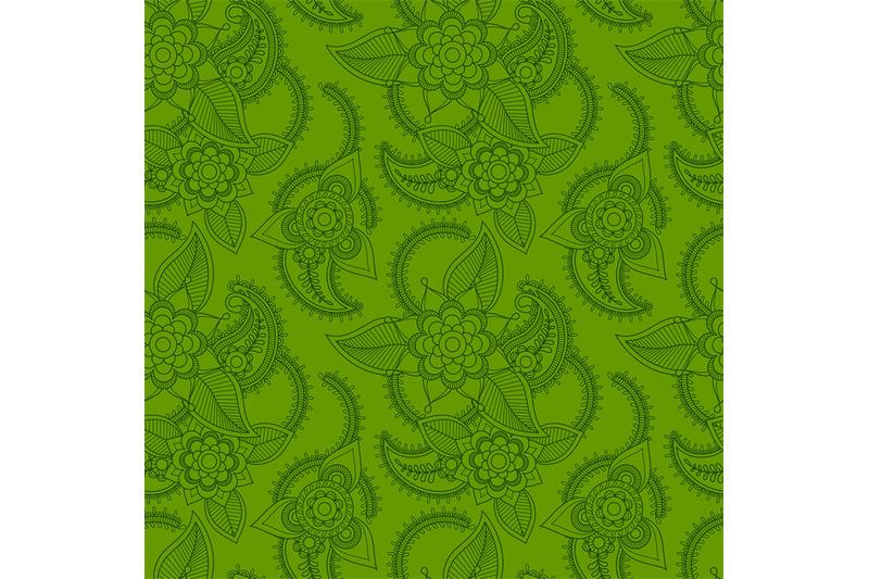 green-line-art-style-pattern-design