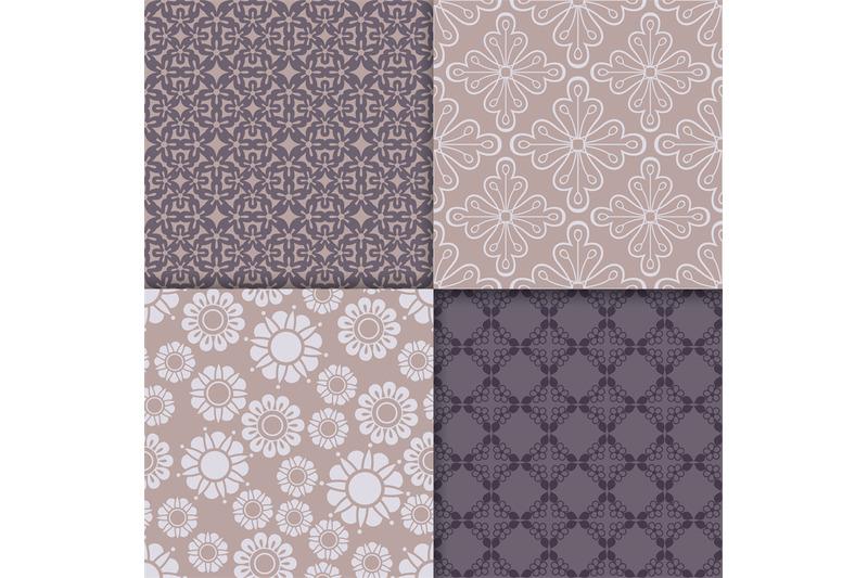 violet-and-serenity-geometric-pattern-set