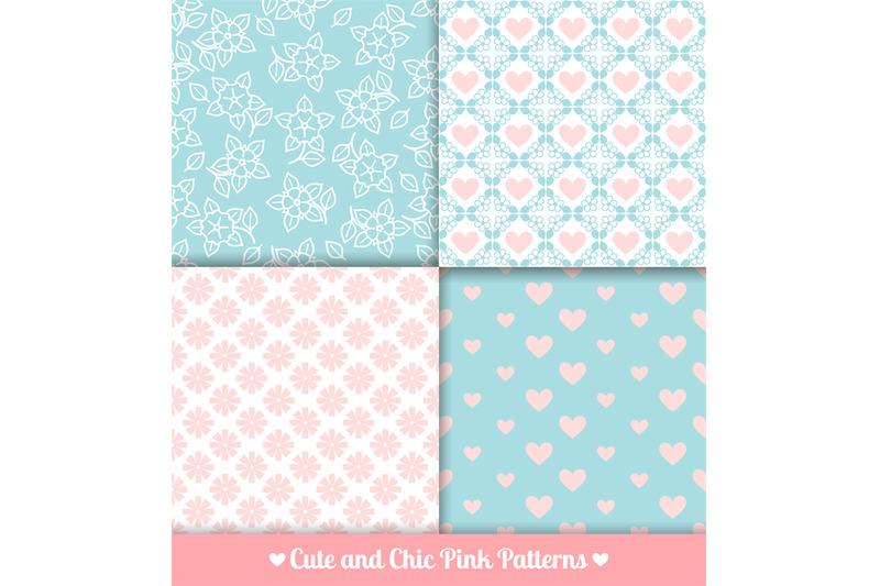 pink-and-blue-seamless-patterns-set