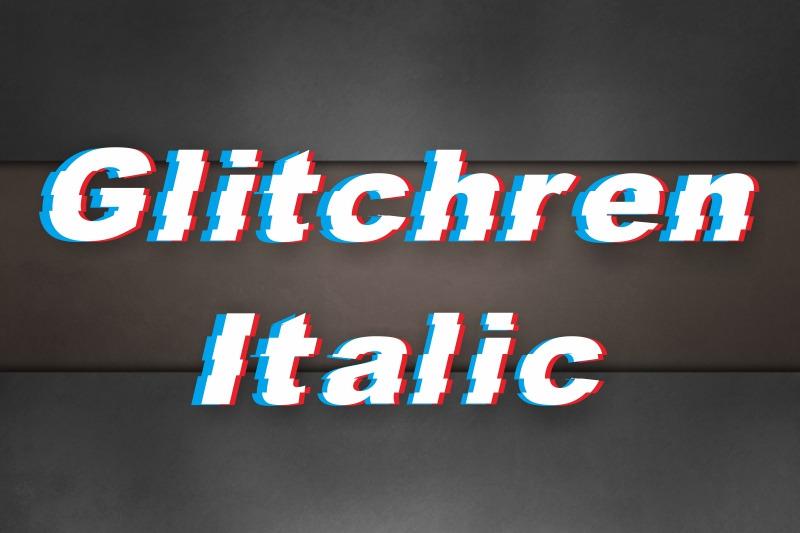 glitchren-italic