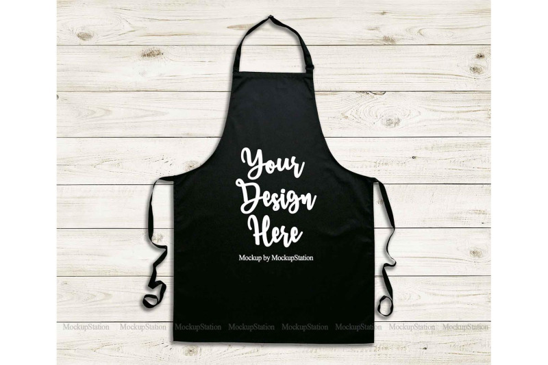 Free Black Apron Mockup, Blank Apron Template Mock Up, Chef Apron (PSD Mockups)