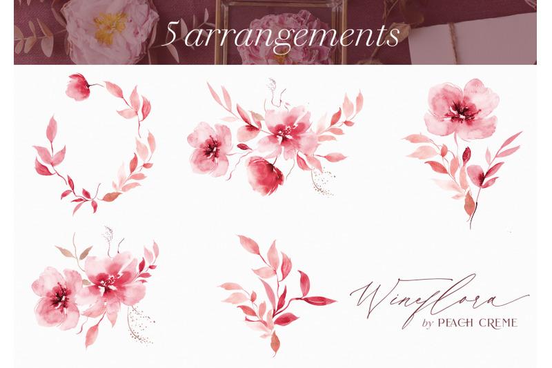wineflora-watercolor-set