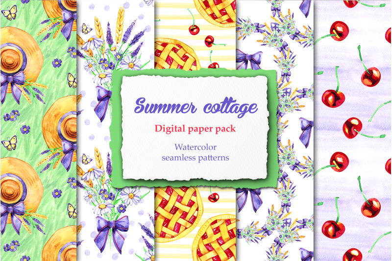 watercolor-summer-cottage-patterns