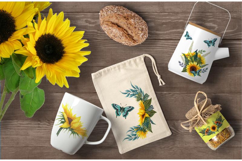 sunny-flowers-watercolor-clip-art