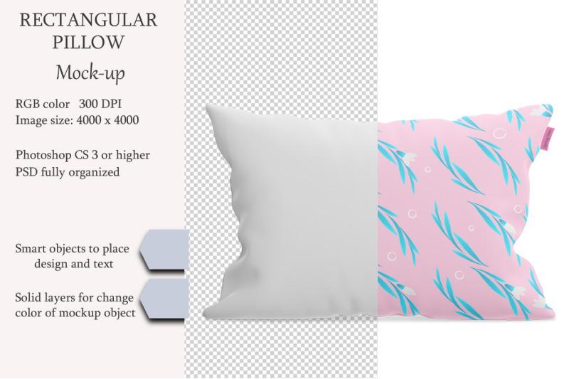 Free Rectangular pillow mockup. Product mockup. (PSD Mockups)