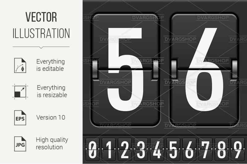 mechanical-scoreboard-numbers
