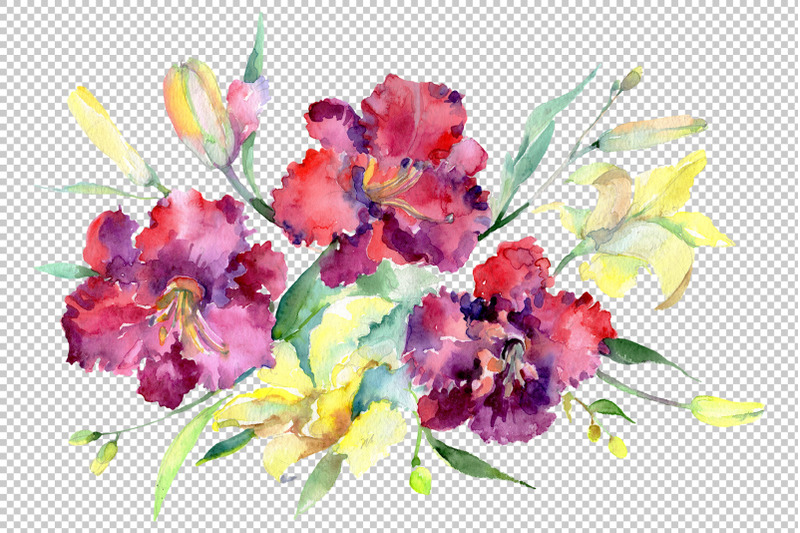 bouquet-nbsp-happy-nbsp-watercolor-png