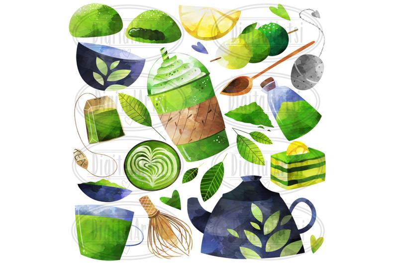 watercolor-green-tea-clipart