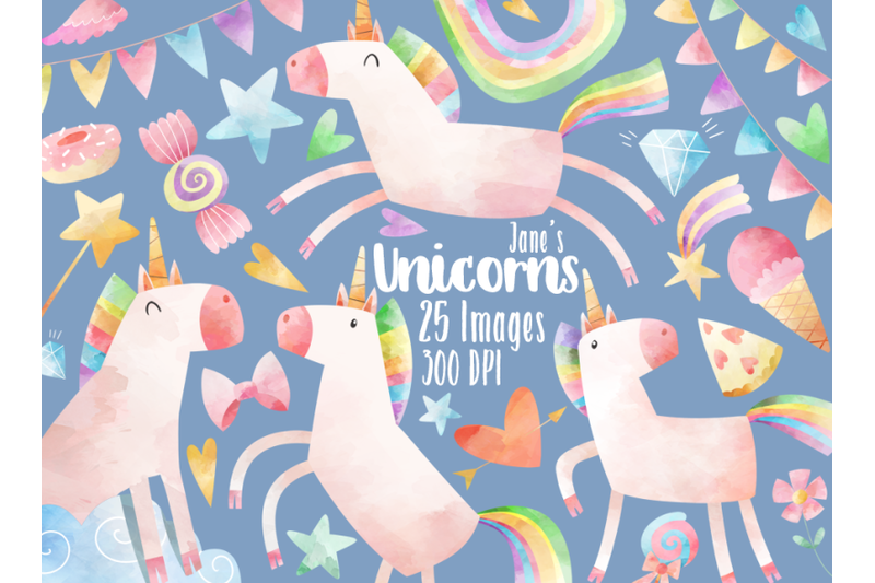 watercolor-unicorns-clipart