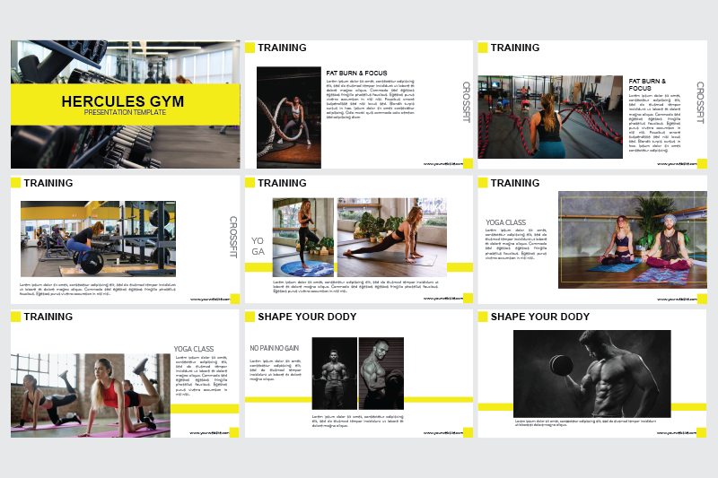 gym-power-point-template