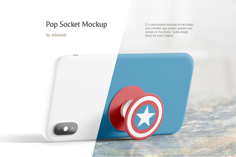 Free Pop Socket Mockup (PSD Mockups)