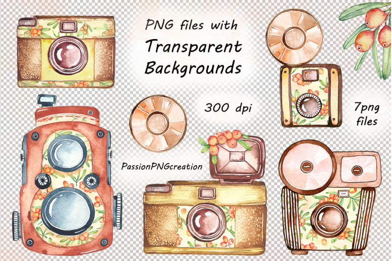 watercolor-retro-camera-clipart