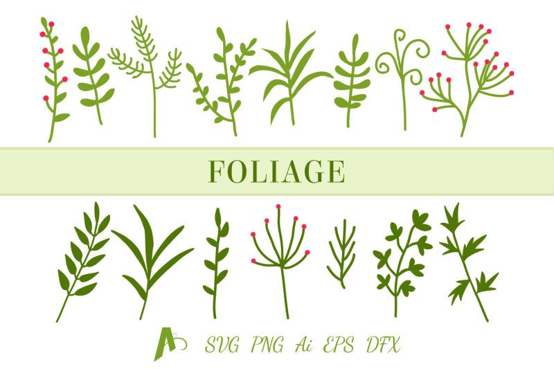 leaf-svg-file-leaf-bundle-foliage-and-branches-svg