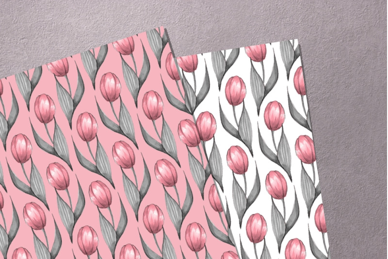 tulips-watercolor-patterns