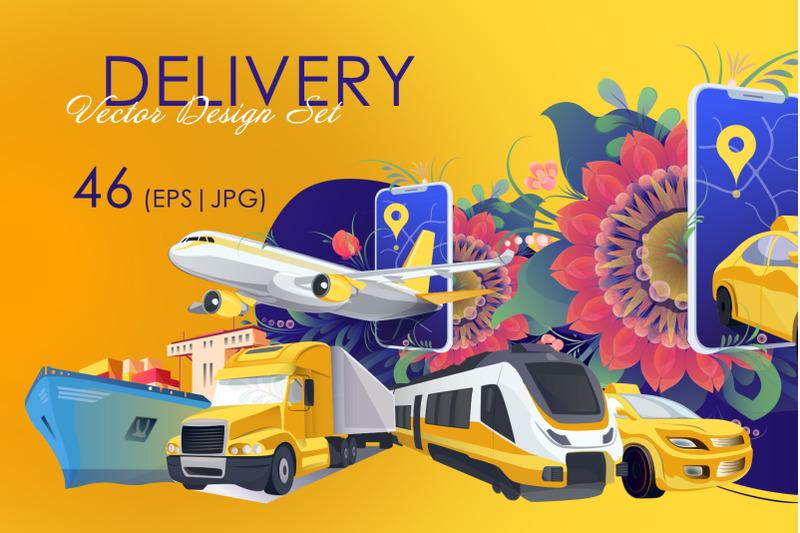 delivery-vector-design-set