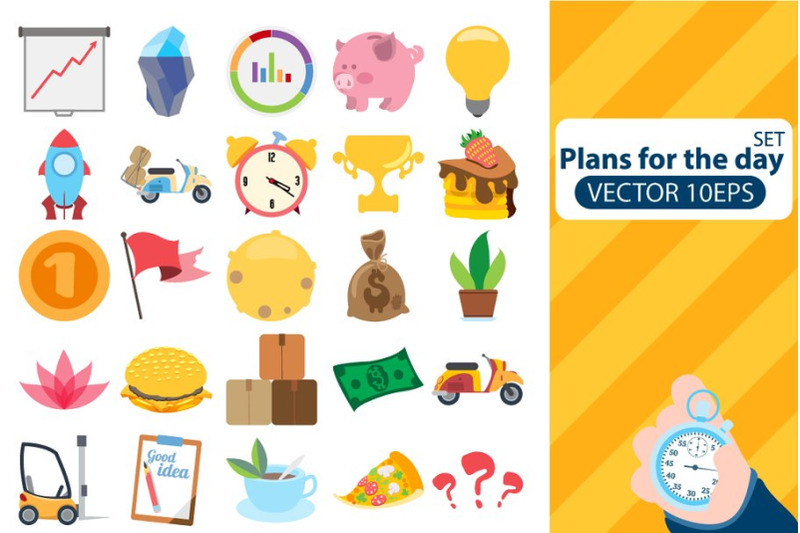 plans-for-the-day-vector-clipart