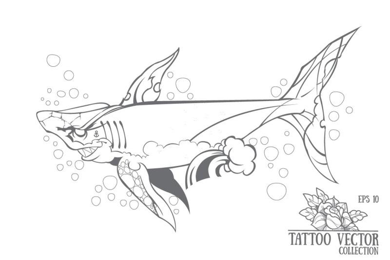 shark-tattoo-vector