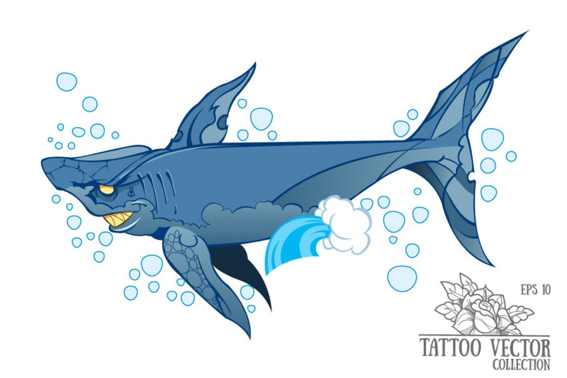 shark-tattoo-vector