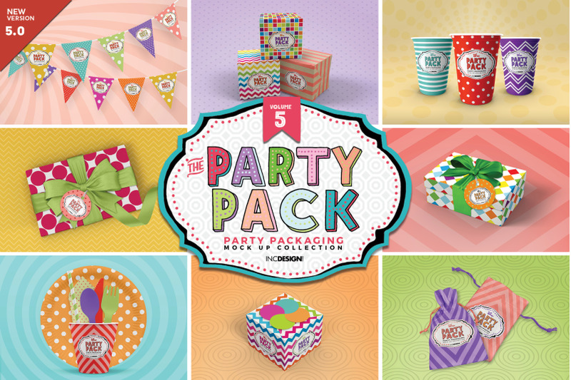 Free The Party Pack Packaging Mockups Vol.5 (PSD Mockups)