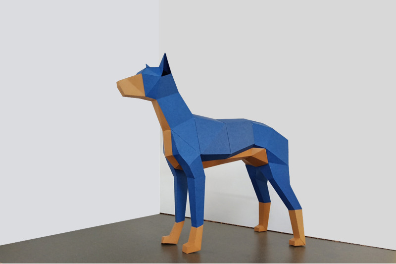 diy-doberman-dog-3d-papercraft