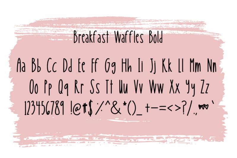 breakfast-waffles-font