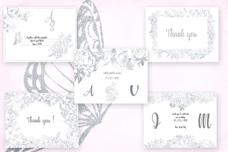 card-templates-and-floral-illustrations-in-silver