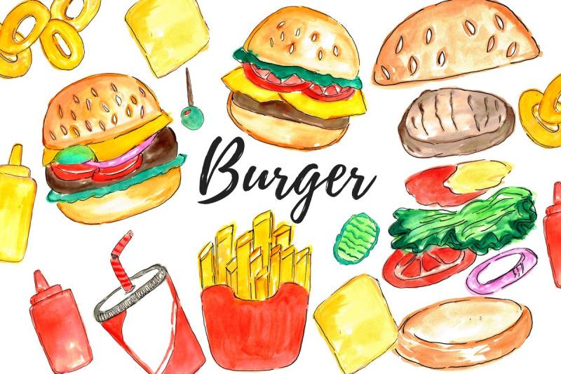 watercolor-burger-clipart