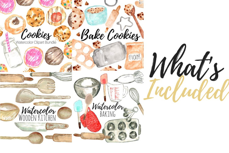 large-watercolor-cookie-clipart
