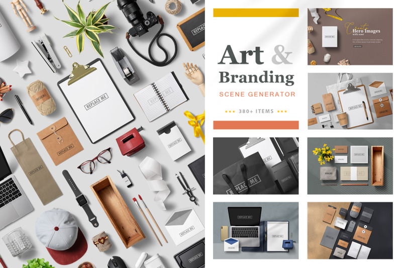 Free Art & Branding Scene Generator (PSD Mockups)