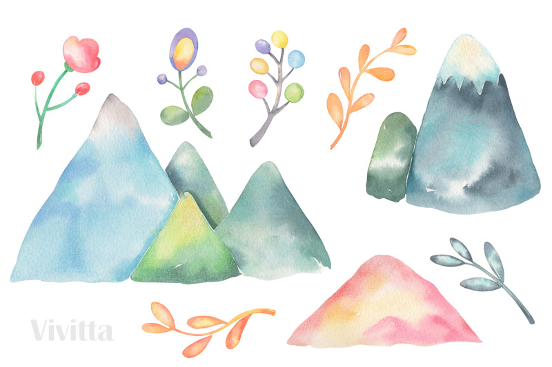 alpaca-collection-llama-cactus-watercolor-clip-art-illustration