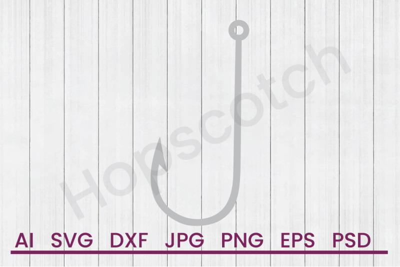 fish-hook-svg-file-dxf-file