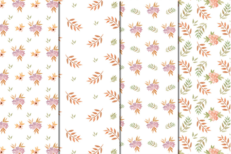watercolor-floral-spring-pattern-with-digital-paper