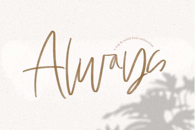 always-svg-amp-solid-handwritten-script-font