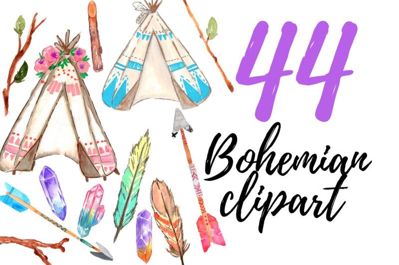 large-watercolor-bohemian-clipart