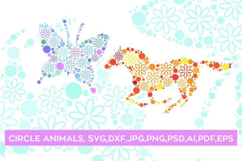 magical-floral-circle-animals