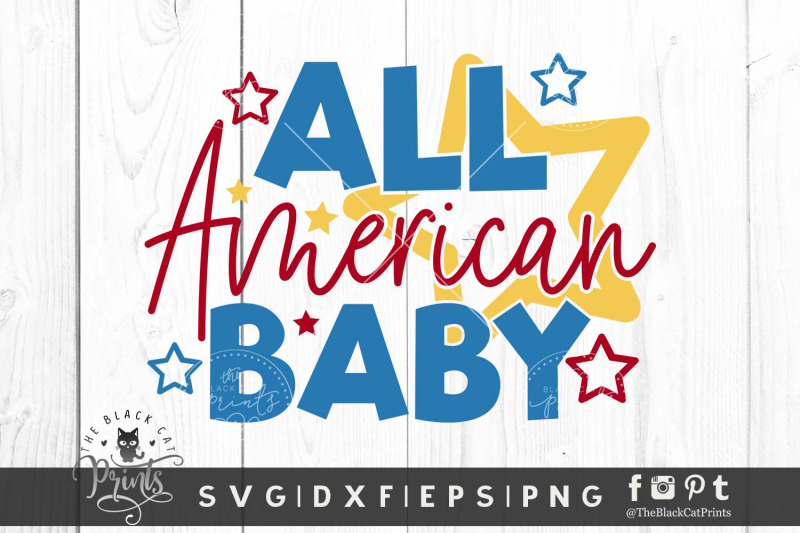 all-american-baby-svg-dxf-eps-png