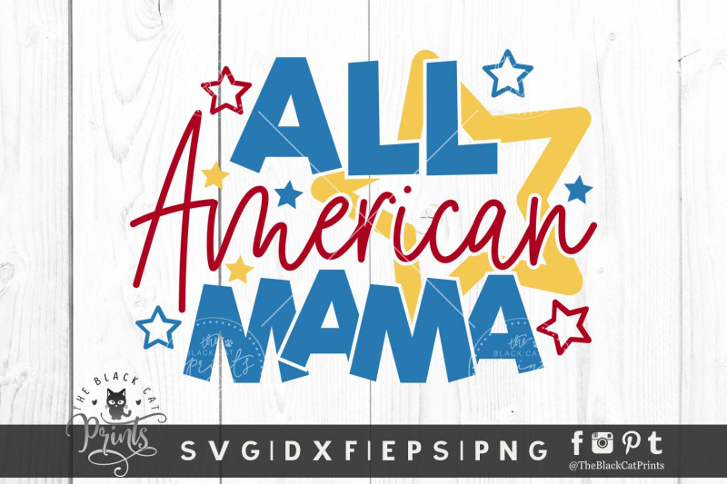 all-american-mama-svg-dxf-eps-png