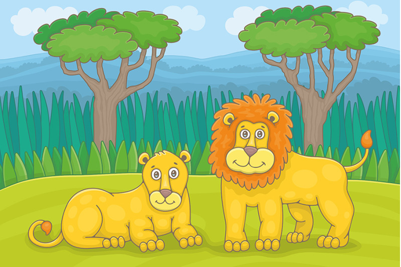 family-of-lions