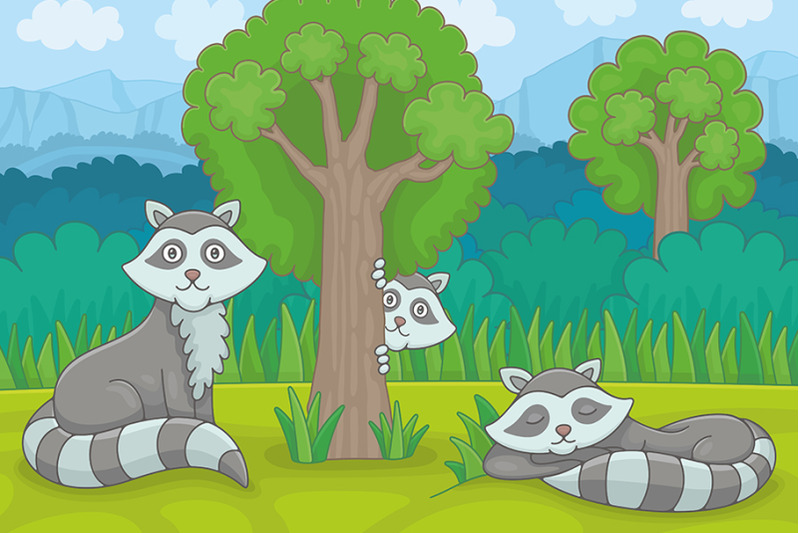 three-raccoons