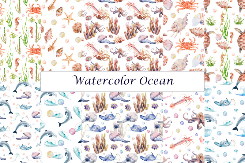 watercolor-ocean