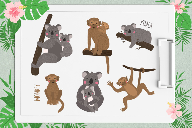 vector-exotic-animals-collection