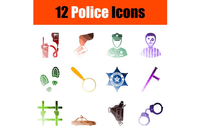 police-icon-set