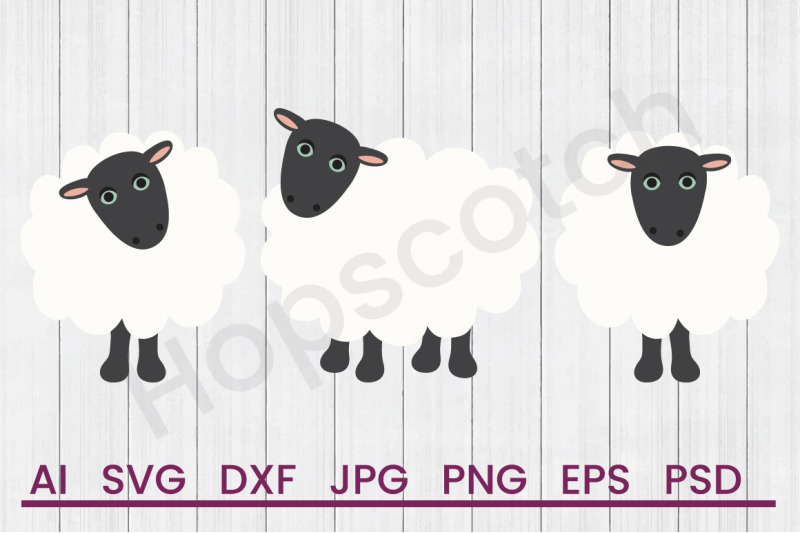 count-sheep-svg-file-dxf-file