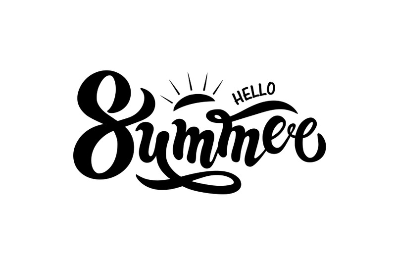 hello-summer-hand-drawn-lettering