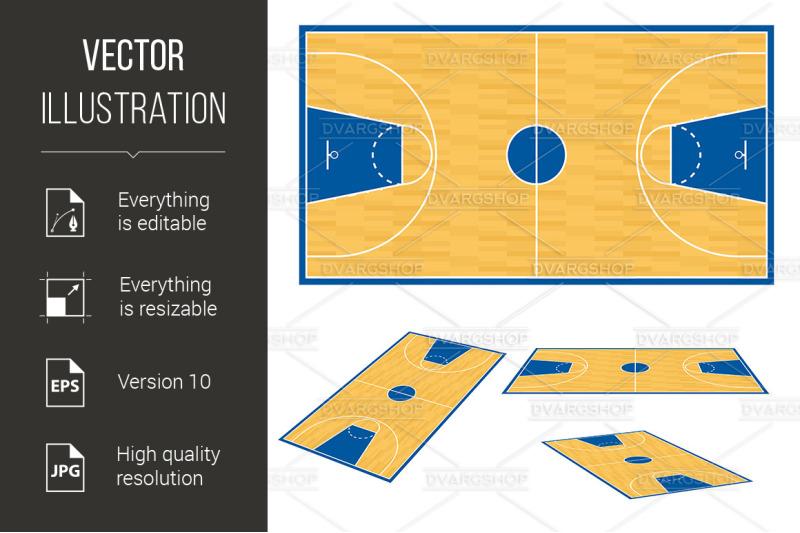 Basketball Court Floor Plan: Basketball Court Floor Plan. By DvargShop